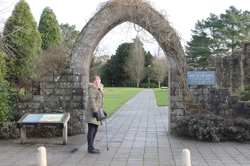 Entering the grounds of Beaulieu Abbey