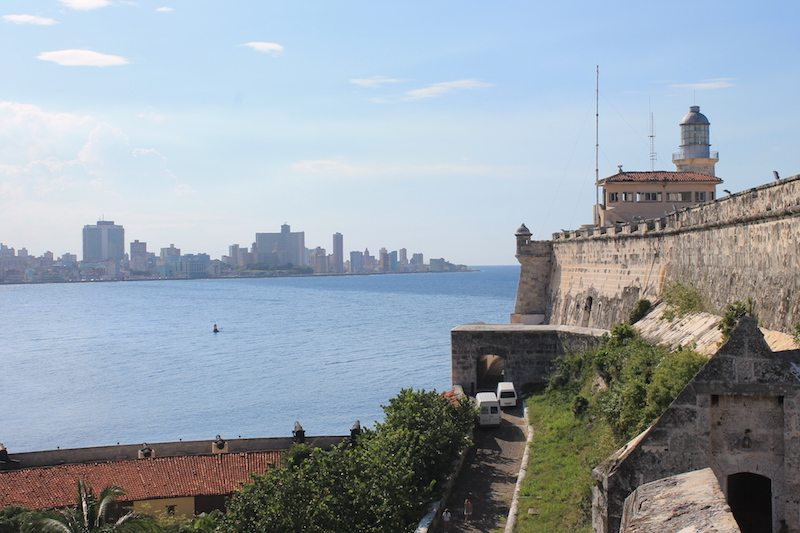 Looking back at Havana from the fort.