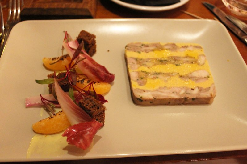 terrine of slow confit rabbit with duck liver