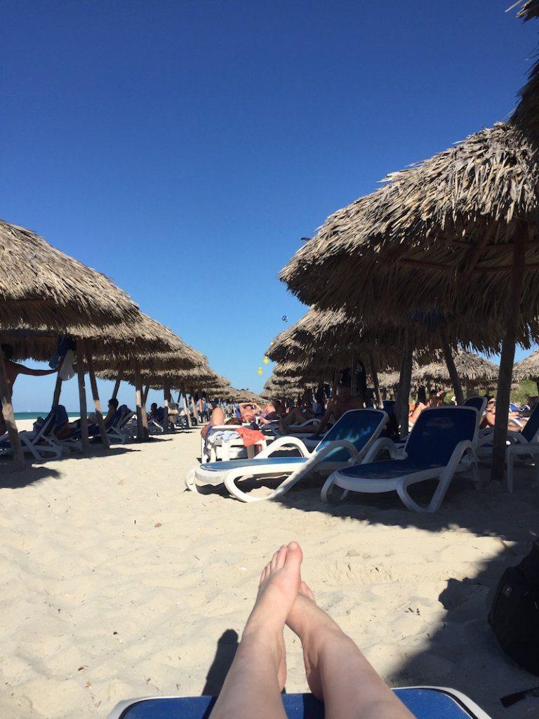 On Varadero beach.