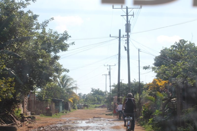 Roads in Varadero, Cuba.