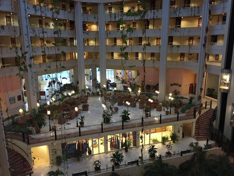 Inside the massive Blau Varadero hotel.