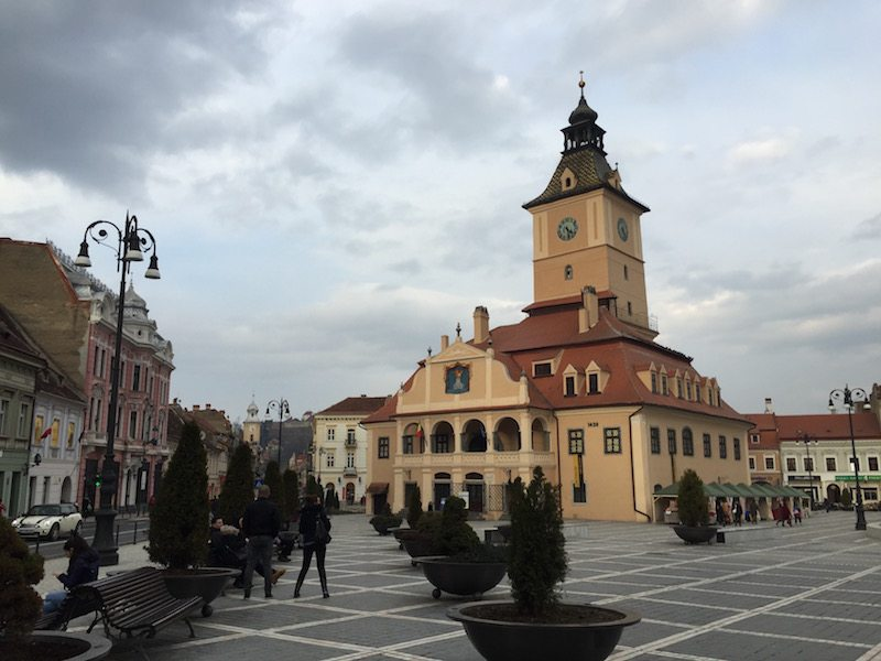 The Old Town Hall is found in the centre of the cobbled streets of Brasov, in the heart of Transylvania.