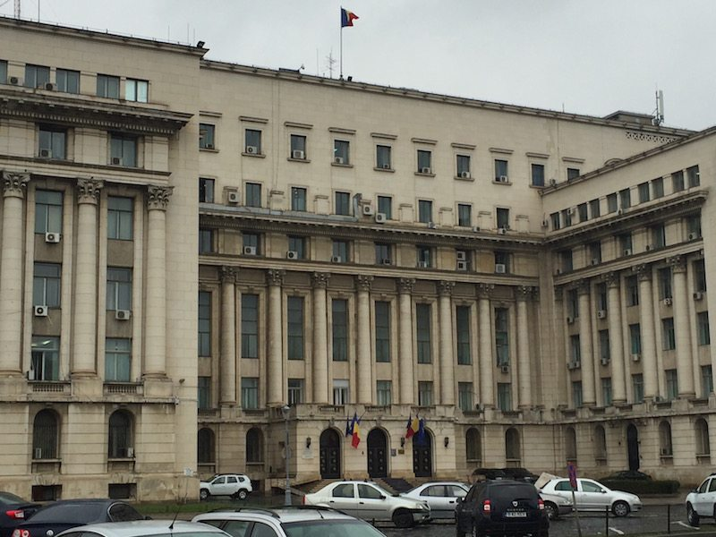 Bucharest's old Communist Party's headquarters.