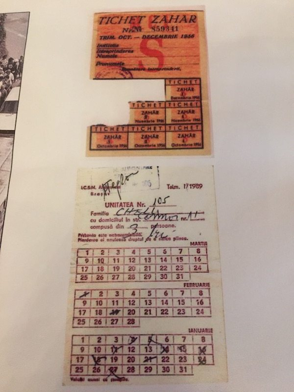 Ration cards from communist Romanian.