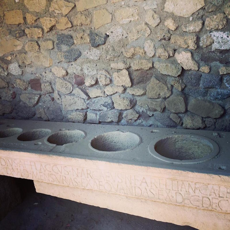 An ancient measuring system found in Pompeii.