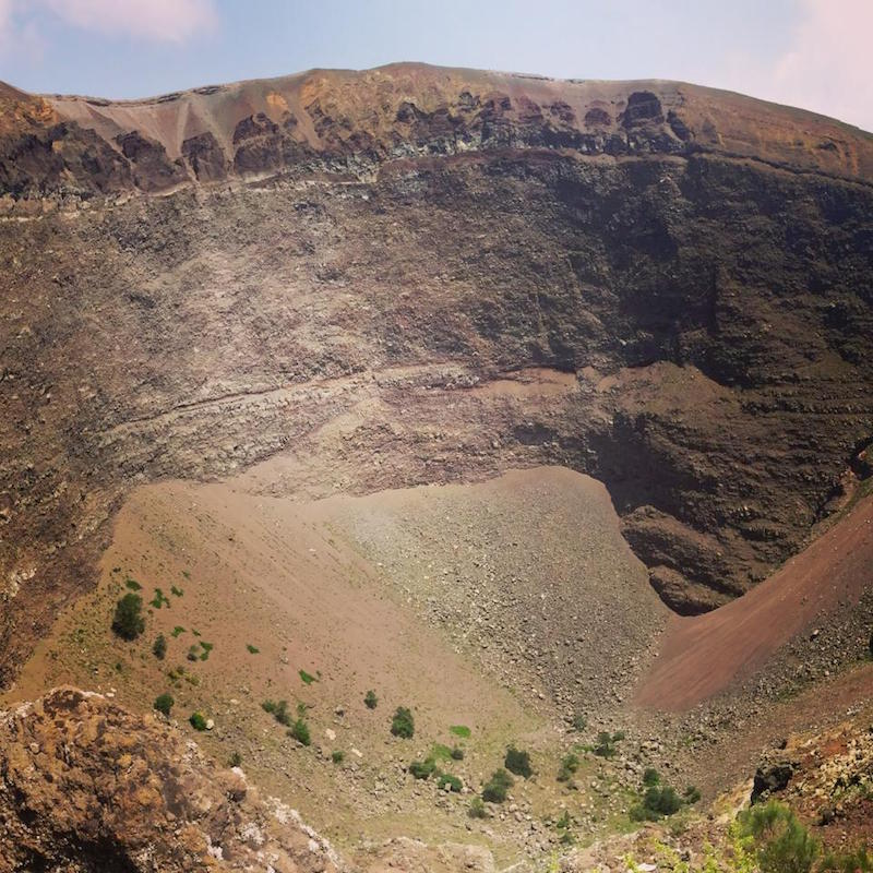 The Mt Vesuvius crater.