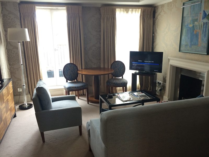 Lounge in a suite at The Stafford London.