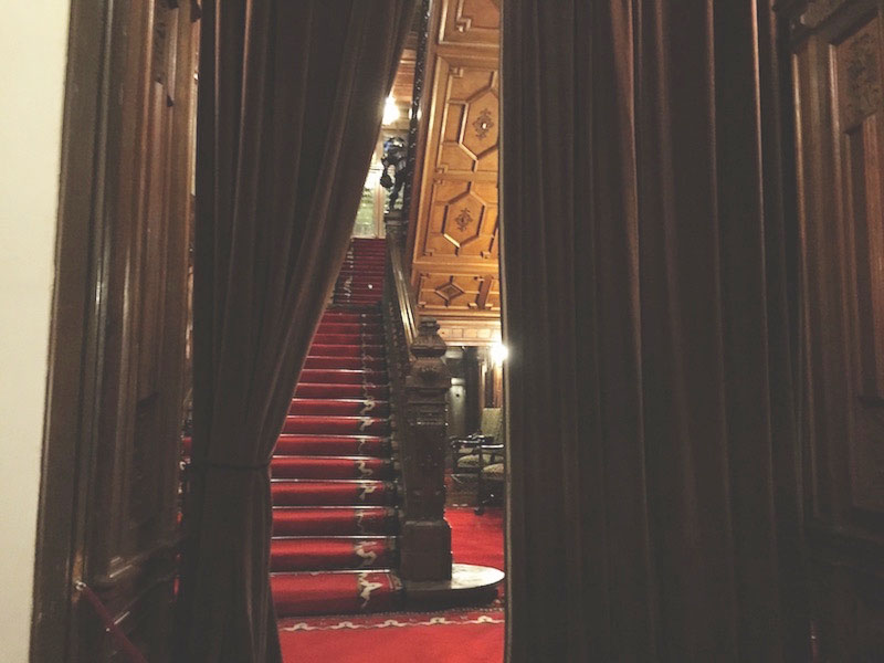 Velvet curtains at Peles Castle.