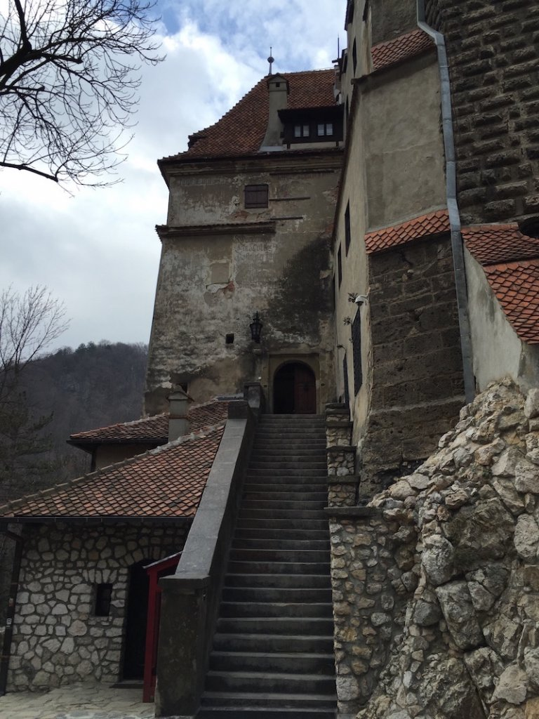 The staircase into Bran Castle/.