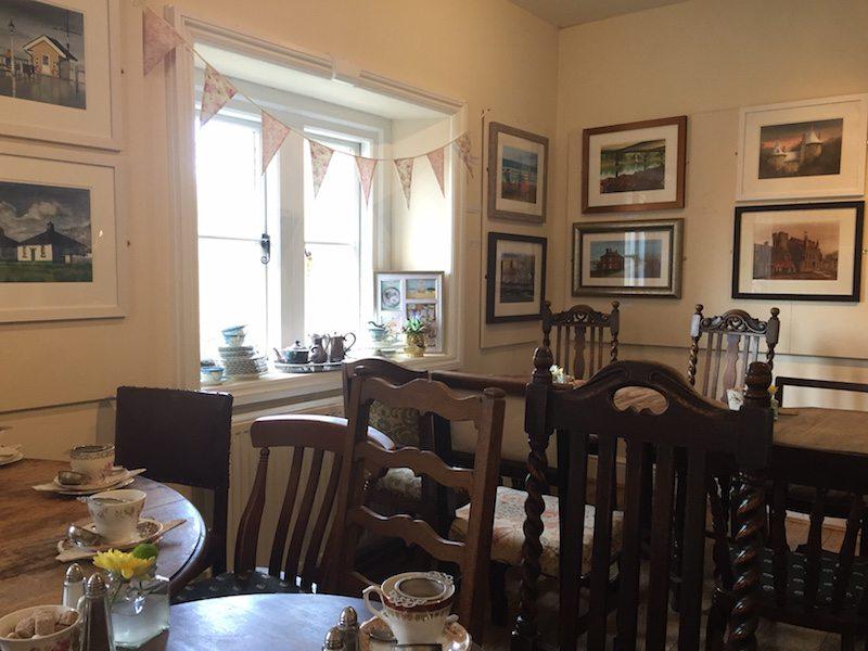 Upstairs at Pettigrew Tea Rooms.