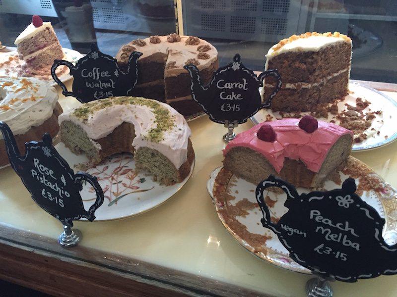 Cakes at pettigrew tea rooms, cardiff.