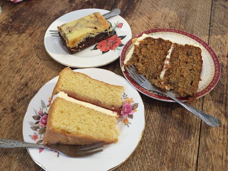 Cake at Pettigrews tea rooms, cardiff.