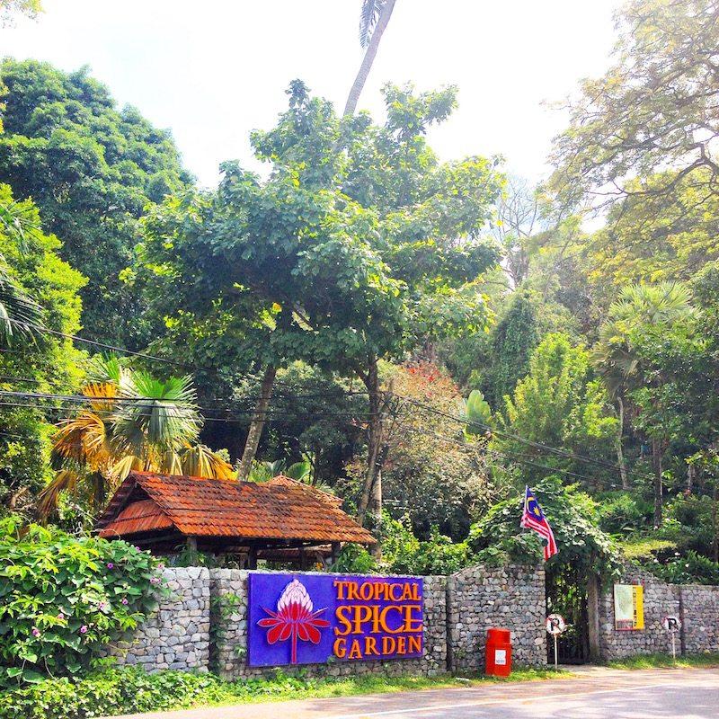Entrance ot the Tropical Spice Garden