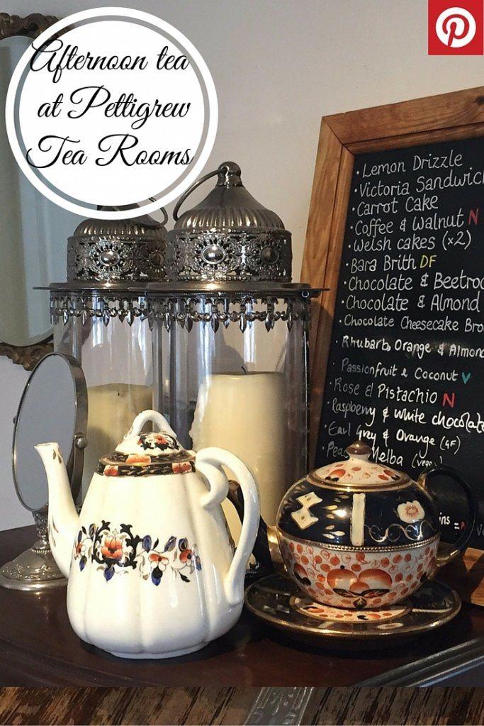 Afternoon tea at Pettigrew Tea Rooms, Cardiff.