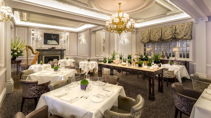 The beautiful Lyttelton restaurant at The Stafford London.