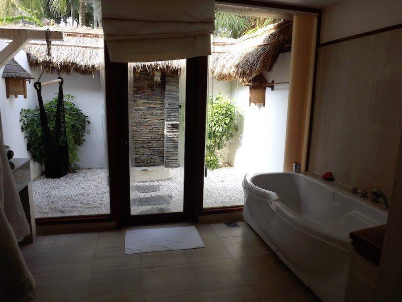 outdoor bathroom vietnam hotel.