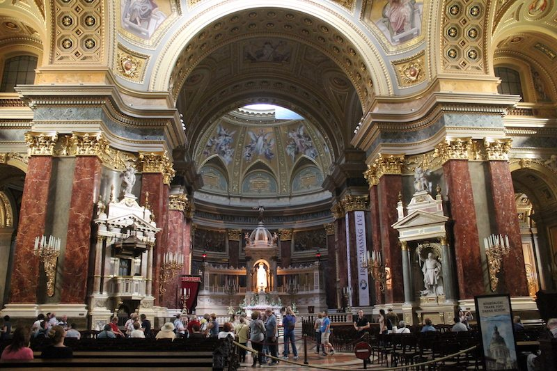 Inside St Stephen's Basilica.