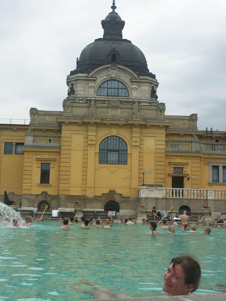 Enjoying my favourite bath at Széchenyi!