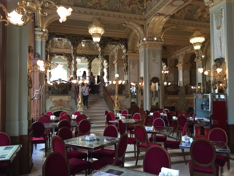Inside the New York Cafe Budapest.