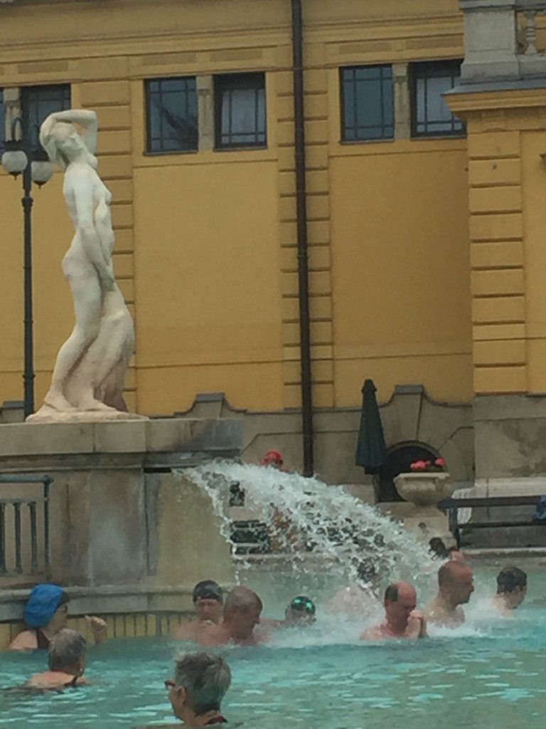 This powerful fountain at Széchenyi was a delight to stand under!
