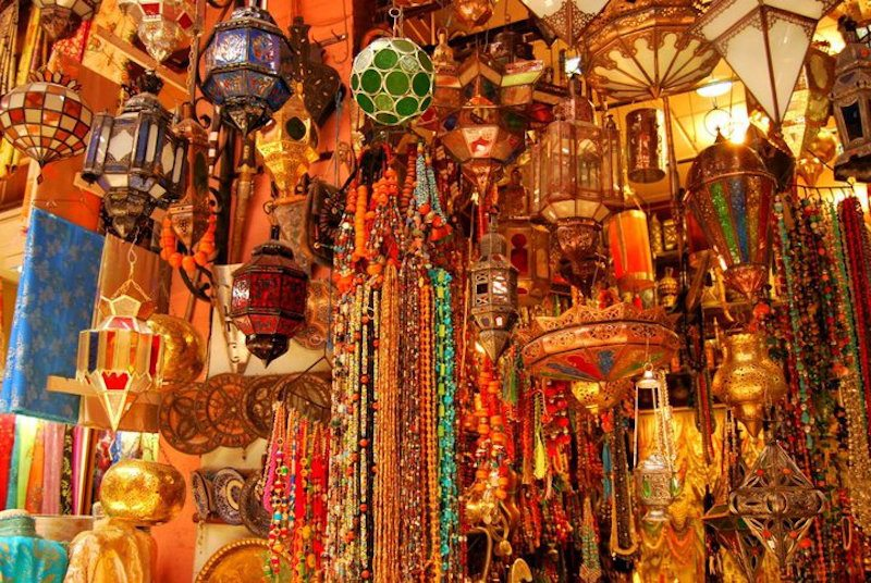 Keep that holiday feeling - A souk in Marrakesh.