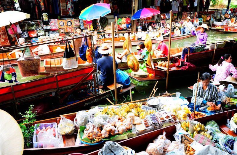 Keep that holiday feeling - Thailand's floating markets.