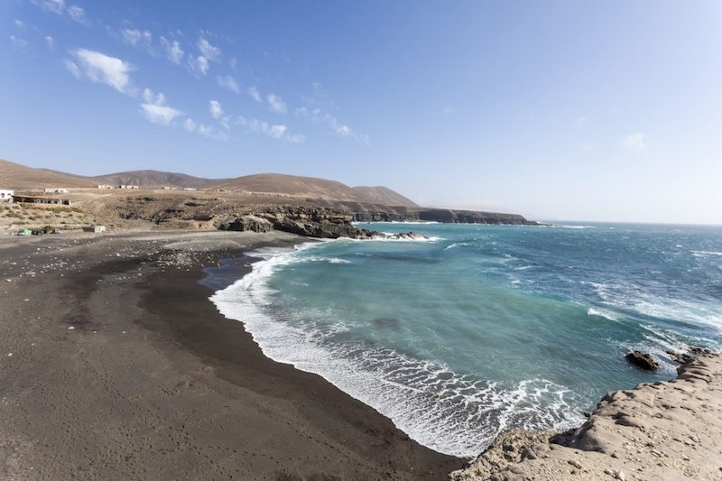 Keep that holiday feeling - A black beach at Fuerteventura.