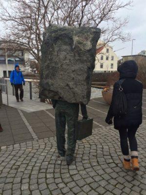 Unknown Bureaucrat statue, Rekyjavik.