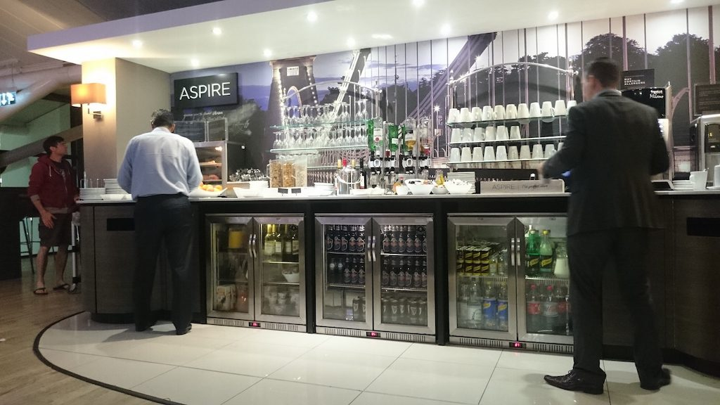 buffet at bristol airport lounge
