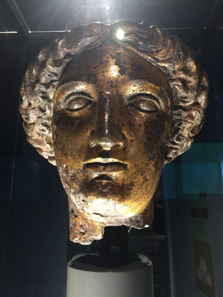 The head of goddess Sulis Minerva