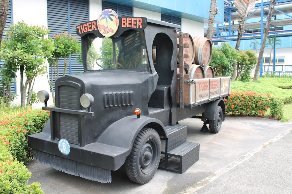 Old delivery van in the Tiger Brewery Singapore | Ladies What Travel