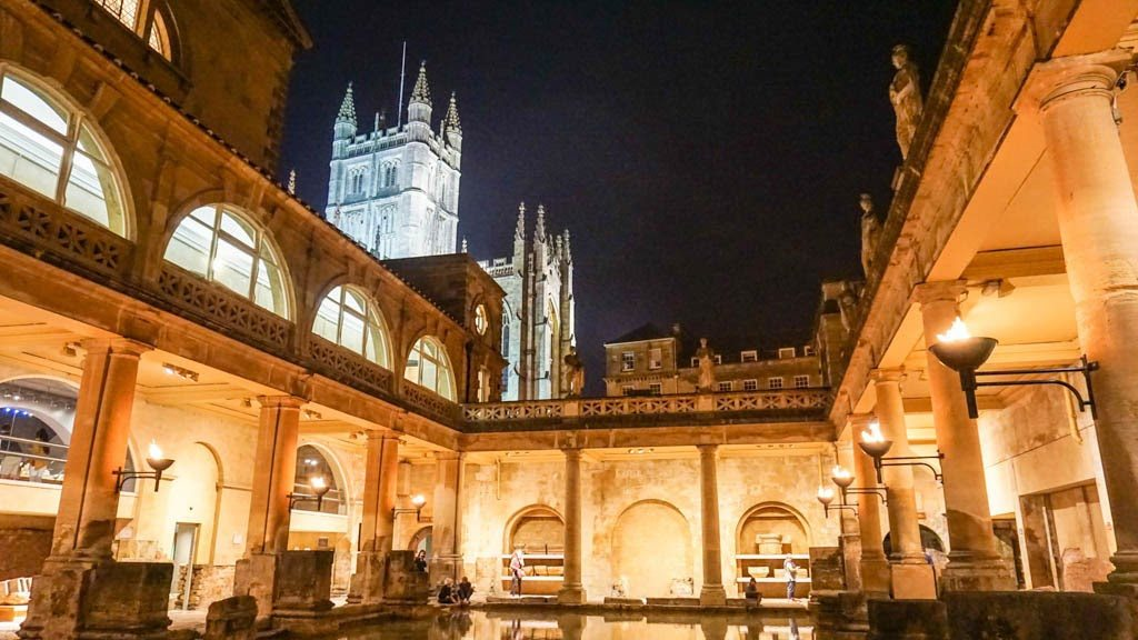 torchlit tour of the roman baths