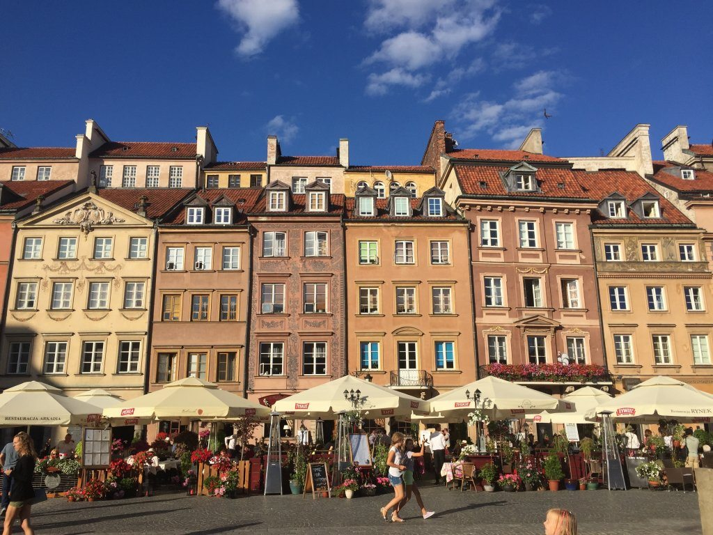Warsaw's 'new' old town.