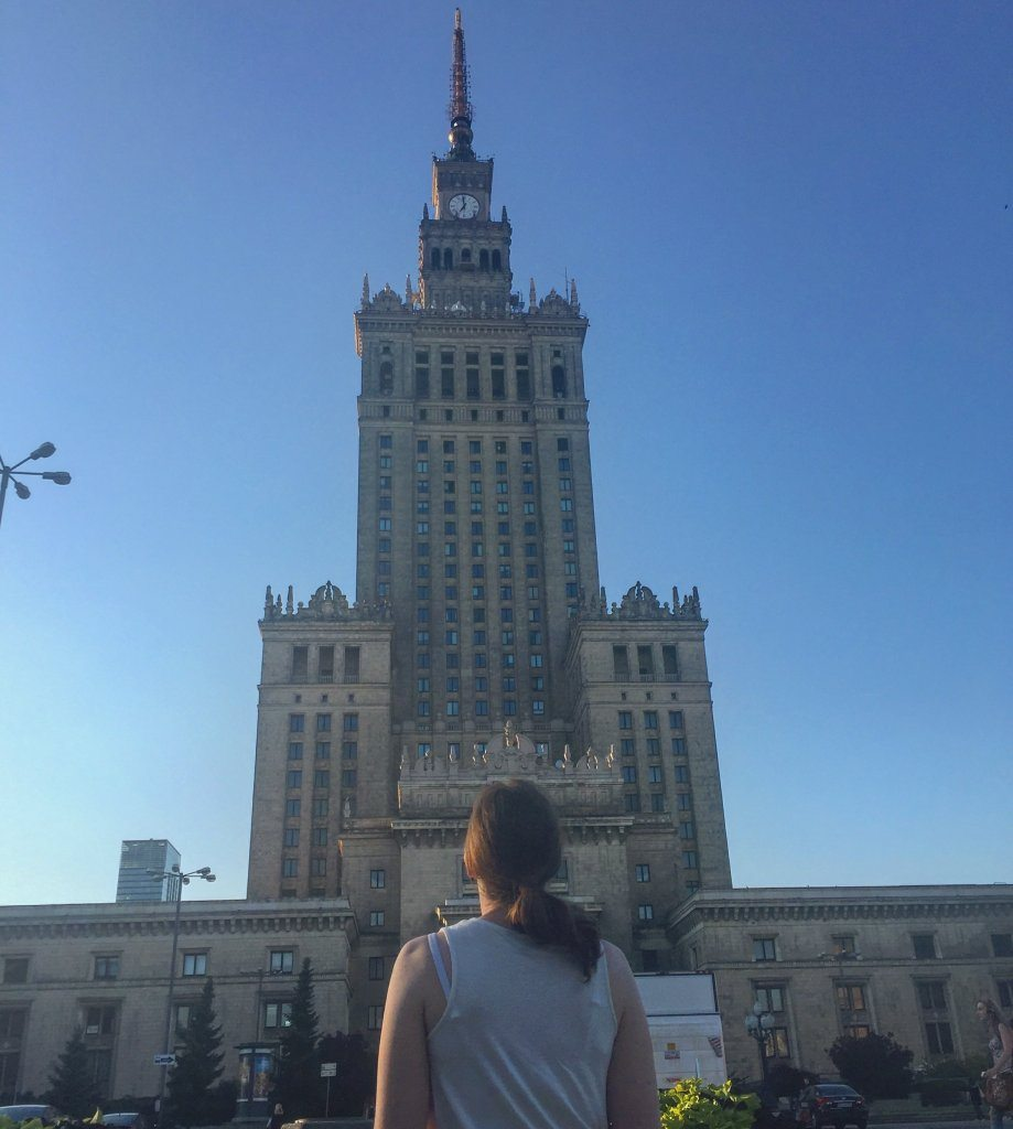 Looking up at the Palace of Culture and Science Warsaw