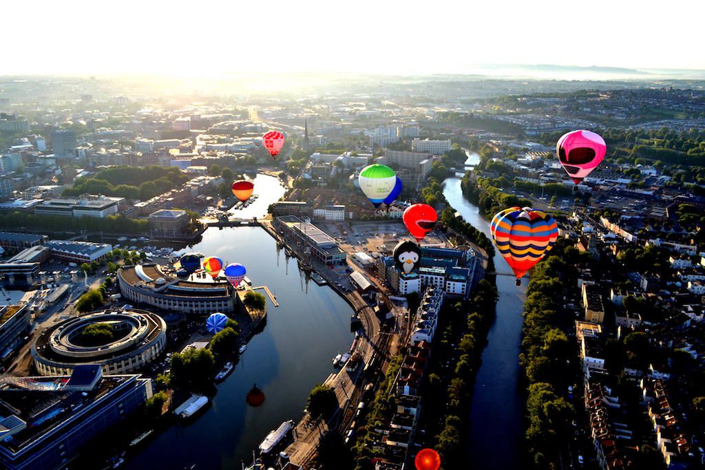 Bristol from the sky. [image credit Angharad Paull]