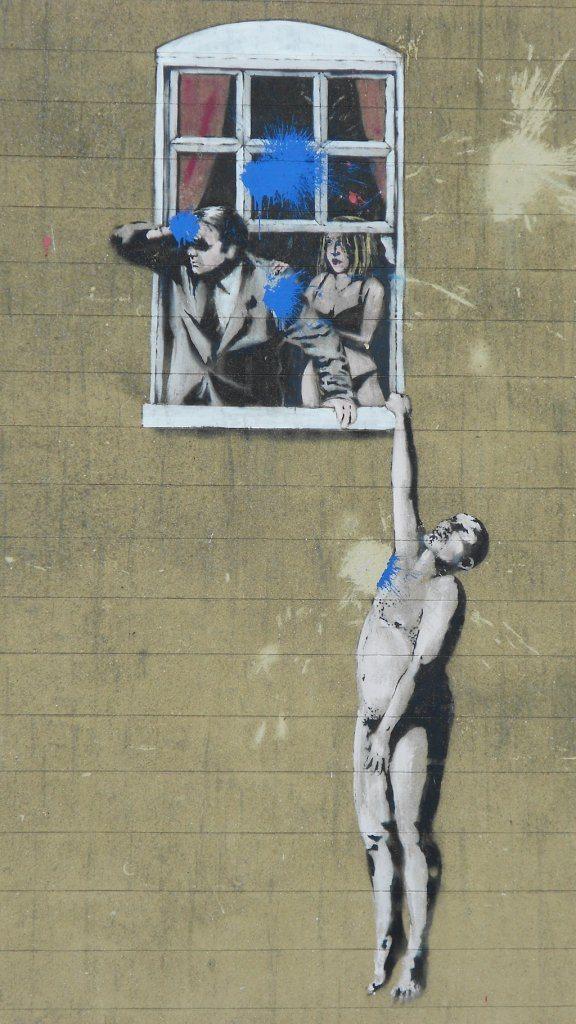 A Banksy original. [image credit Destination Bristol]