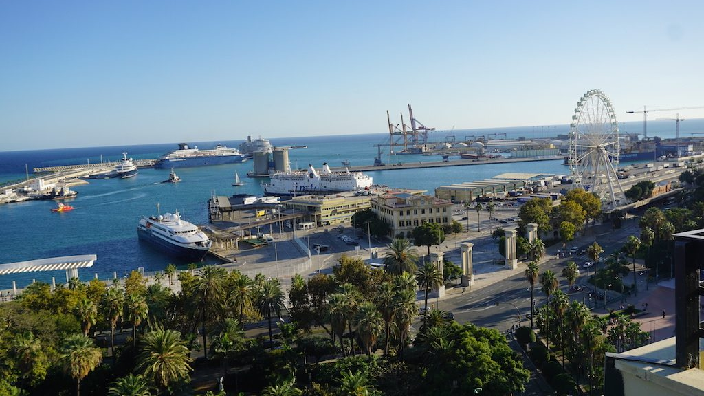 View of Malaga Harbour