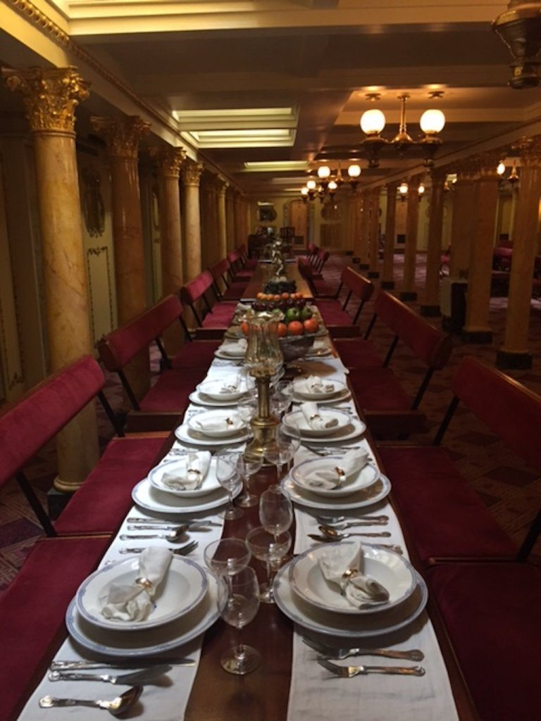 Dinner - first class style - on the ss Great Britain.