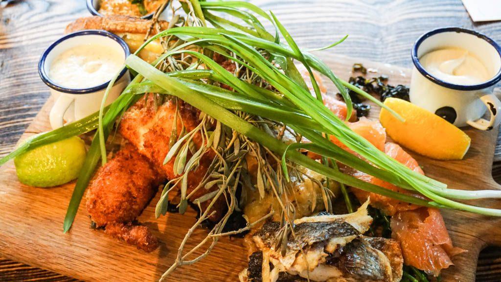 Seafood platter at Wild Beer Bristol