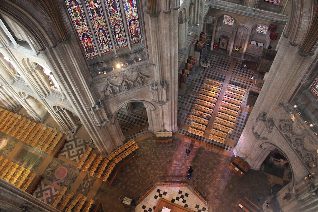 looking down ely cathedral   Ladies What Travel