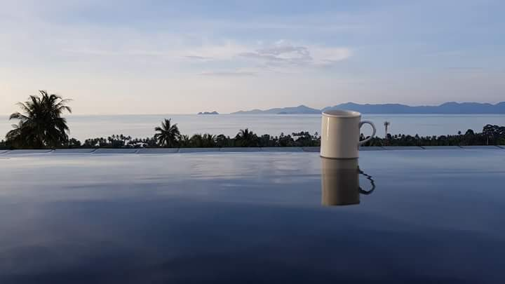 Tea by the pool in Thailand