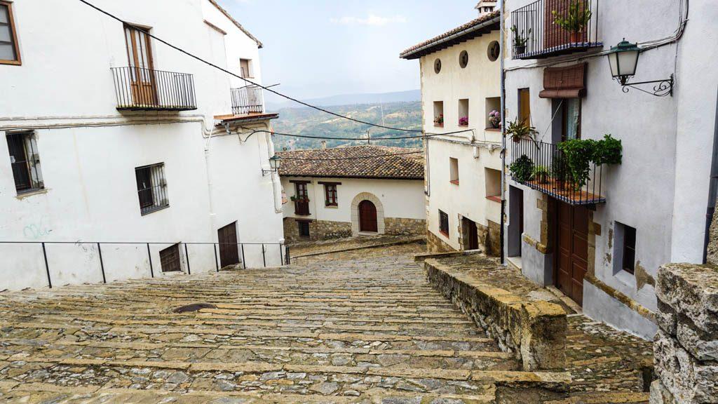 Morella cobbled streets