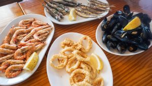 Seafood at Puertomar restaurant