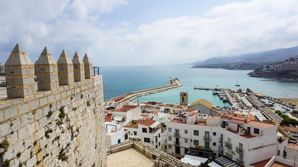 View from Peniscola Castle