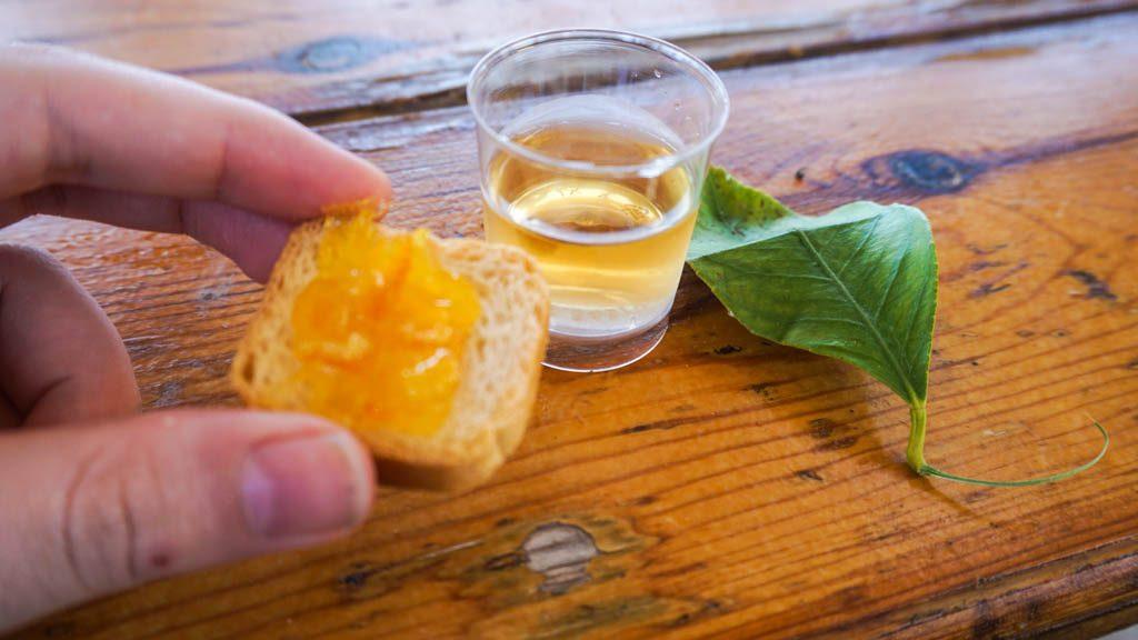Orange marmalade and liquer