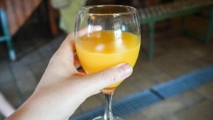 Fresh orange juice as Mas del Doblons