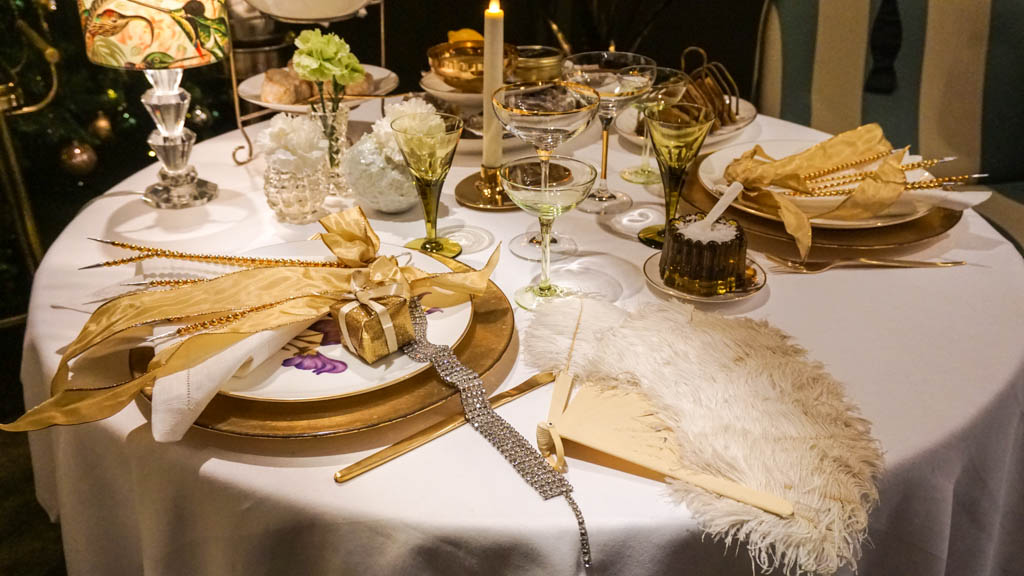 Royal Copenhagen Xmas tables
