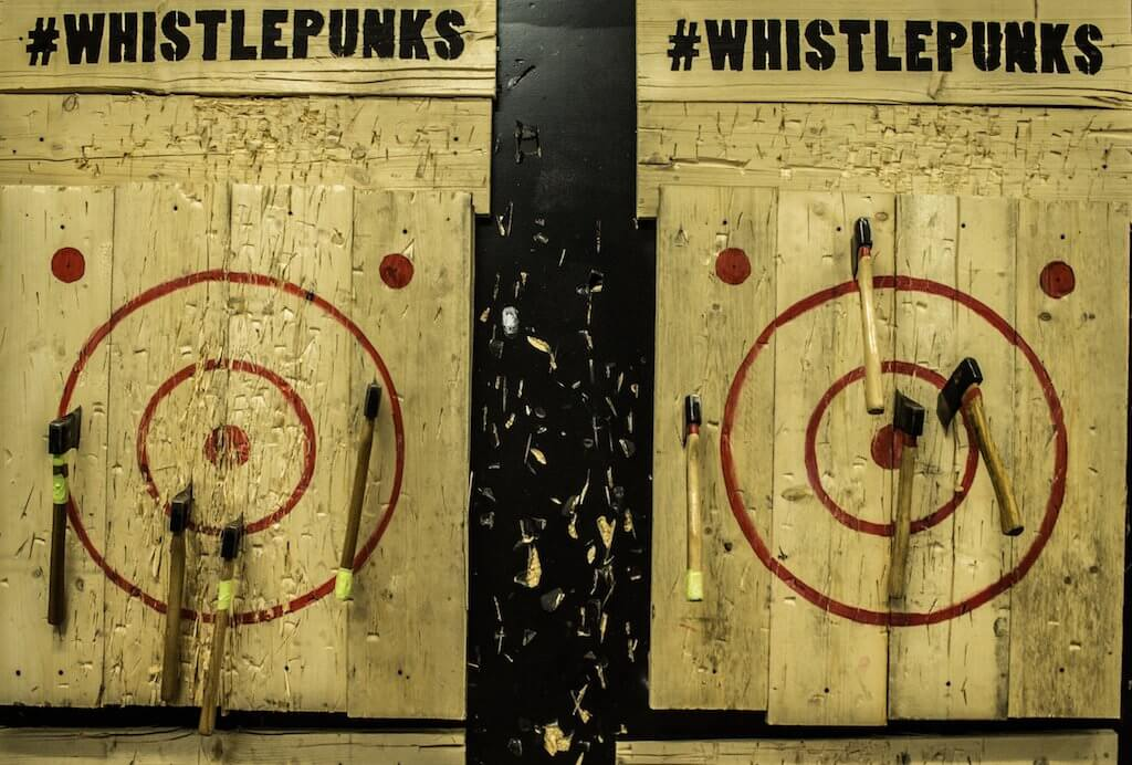 Urban Axe Throwing London | Whistle Punks Ladies What Travel