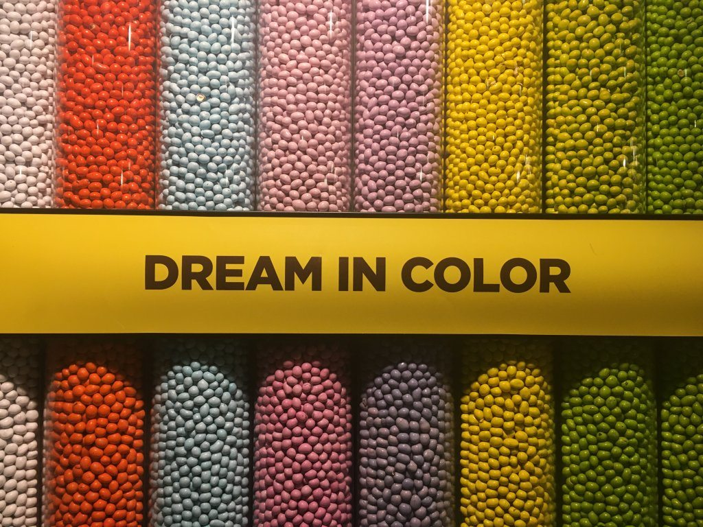 Wall of M&Ms